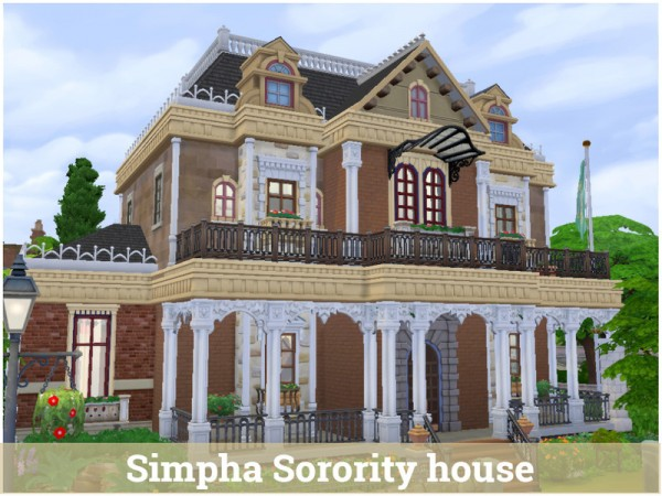 The Sims Resource: Simpha Sorority house by Mini Simmer