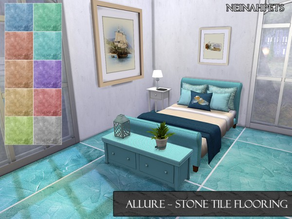 The Sims Resource: Allure Stone Tile Flooring by neinahpets