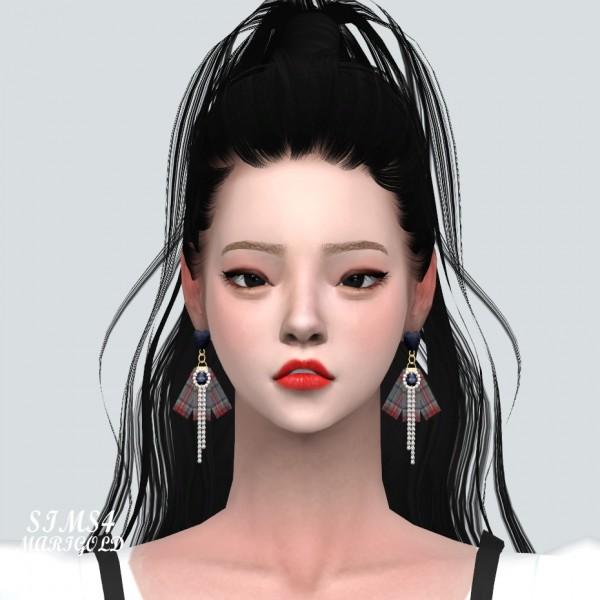 Sims4 Fashion Diva: Heart 3 Fabric Earring Small V