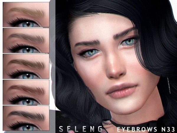 The Sims Resource: Eyebrows N33 by Seleng