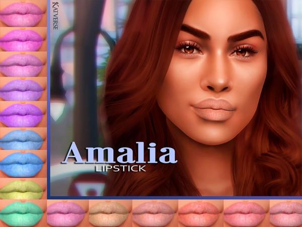 The Sims Resource: Amalia Lipstick by KatVerseCC