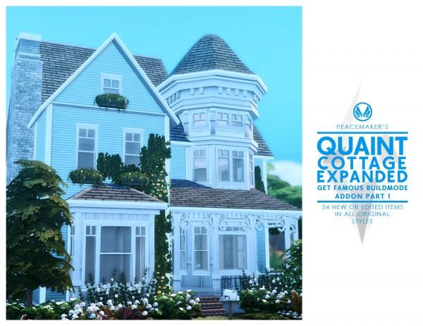 Simsational designs: Quaint Cottage Expanded   Buildmode Addon Part One