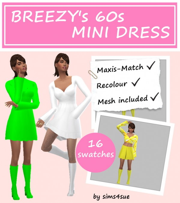 Sims 4 Sue: Mini dress