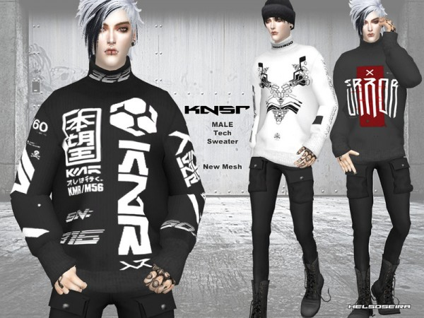 The Sims Resource: KNSR   Male Sweater by Helsoseira
