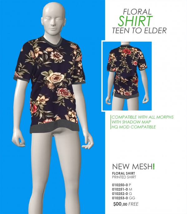 Red Head Sims: Floral Shirt