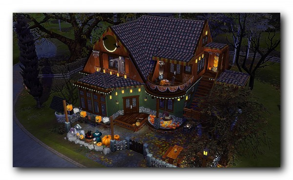 Architectural tricks from Dalila: Rustic halloween house
