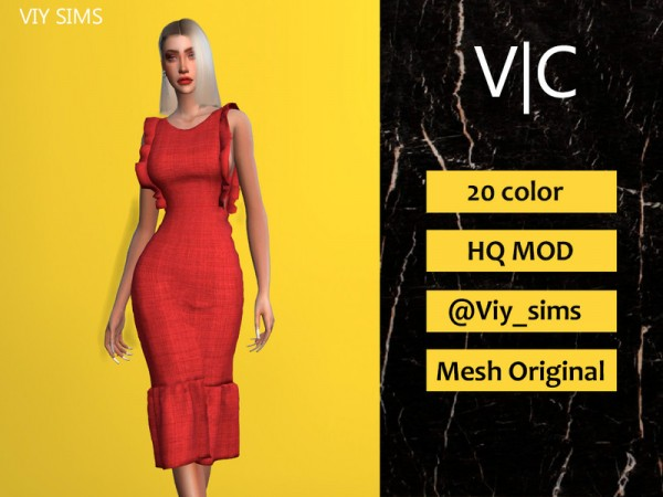 The Sims Resource: Daenerys Dress III by Viy Sims