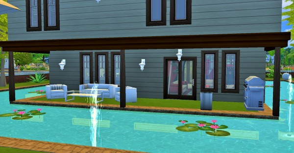 Mod The Sims: Two story home surrounded by pool by heikeg