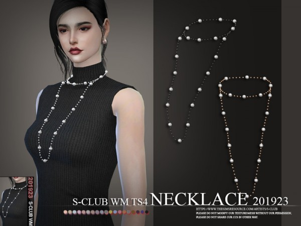 The Sims Resource: Necklace 201923 by S Club