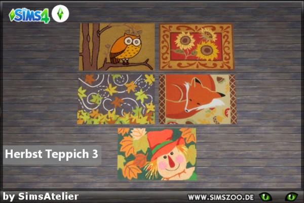 Blackys Sims 4 Zoo: Autumn carpet 3 by  SimsAtelier