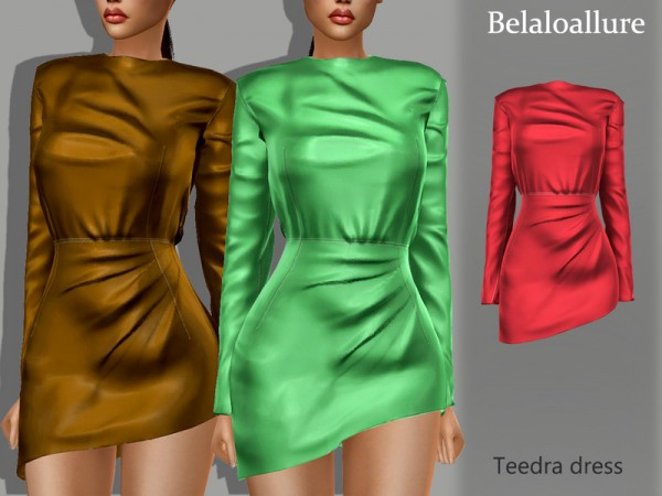 The Sims Resource: Teedra dress by belal1997