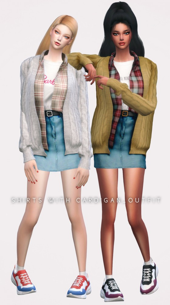 Newen: Shirts With Cardigan Set 1