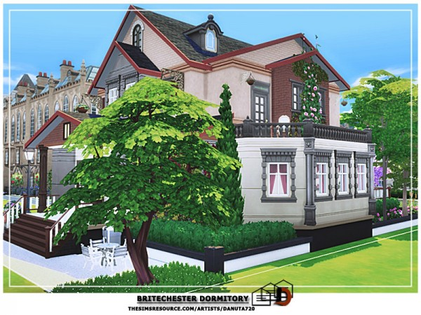 The Sims Resource: Britechester Dormitory by Danuta720