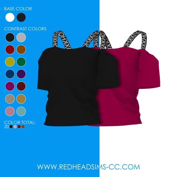 Red Head Sims: Jasmine top