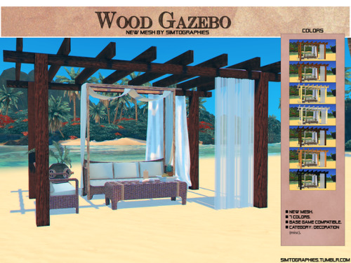 Simtographies: Wood Gazebo
