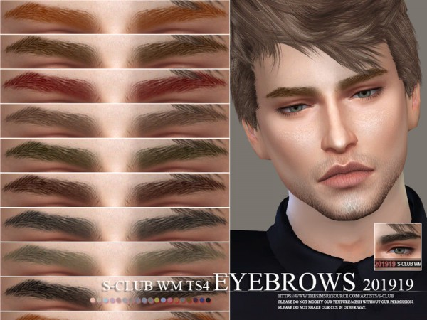 The Sims Resource: Eyebrows 201919 by S Club