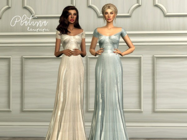 The Sims Resource: Platina dress by laupipi