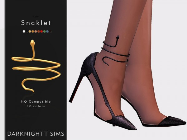 The Sims Resource: Snaklet shoes by DarkNighTt