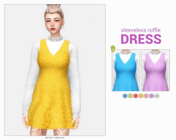 Casteru: Sleeveless ruffle dress