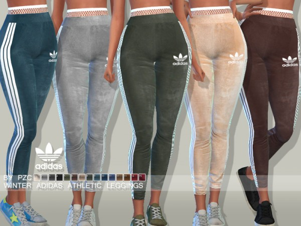 The Sims Resource: Winter Athletic Leggings by Pinkzombiecupcakes