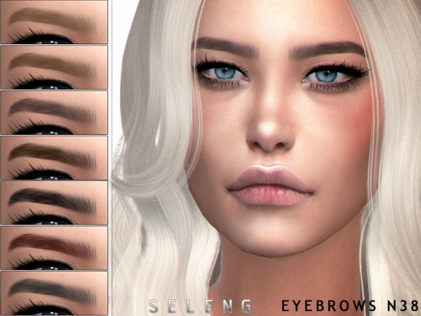The Sims Resource: Eyebrows N38 by Seleng