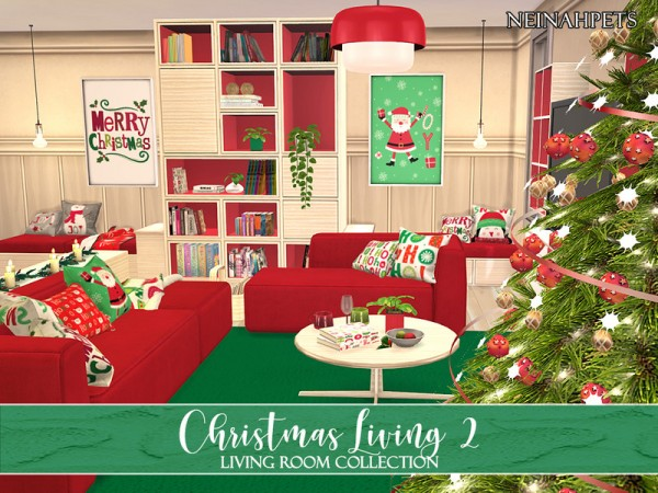 The Sims Resource: Christmas Living Collection II by neinahpets