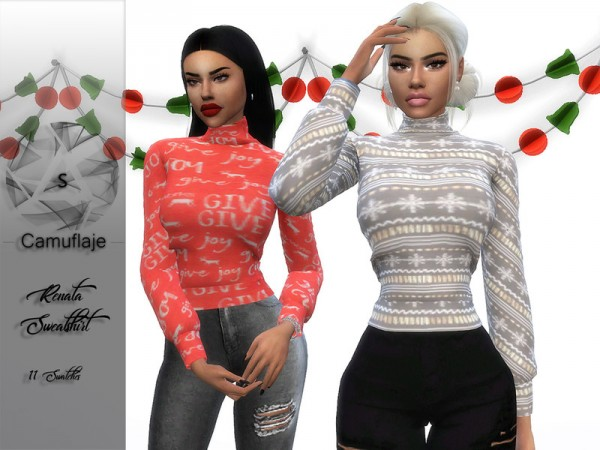 The Sims Resource: Renata Top by Camuflaje