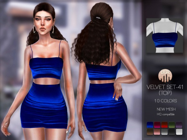 The Sims Resource: Velvet Set 41 Top BD162 by busra tr