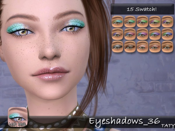 The Sims Resource: Eyeshadows 36 by Taty