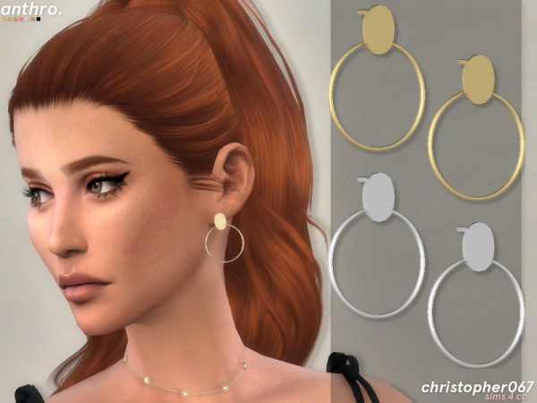 The Sims Resource: Anthro Earrings by Christopher067