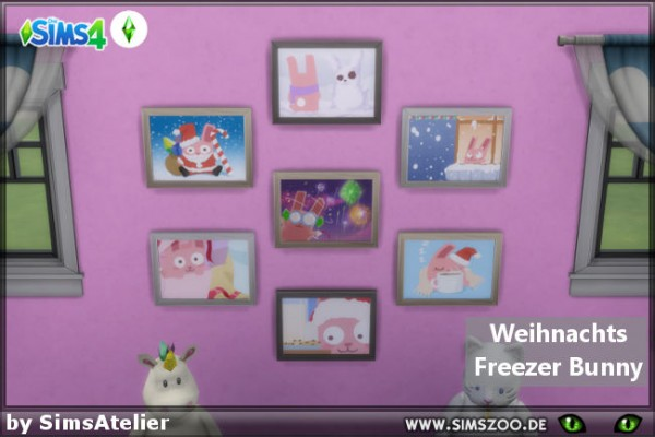 Blackys Sims 4 Zoo: Christmas Freezer Bunny by SimsAtelier