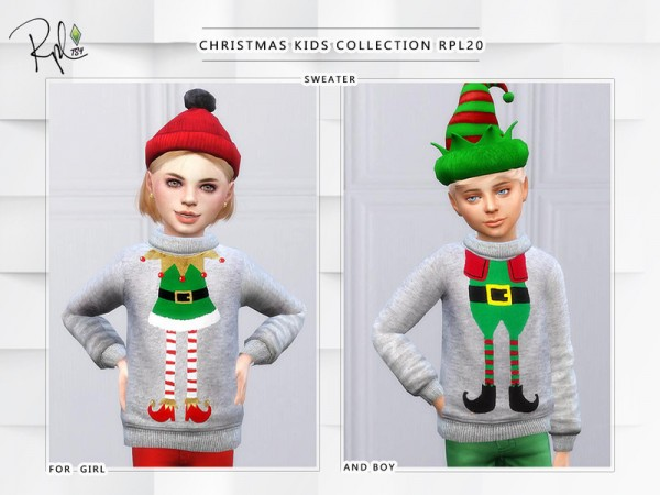 The Sims Resource: Christmas Kids Collection RPL20   Holiday Celebration by RobertaPLobo