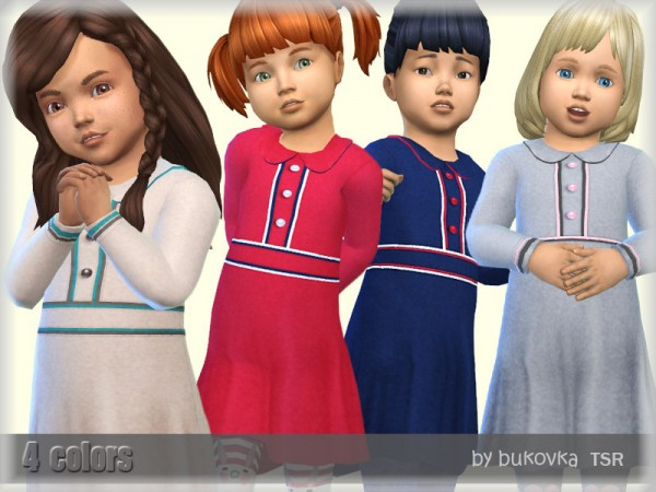 The Sims Resource: Dress and Piping by bukovka