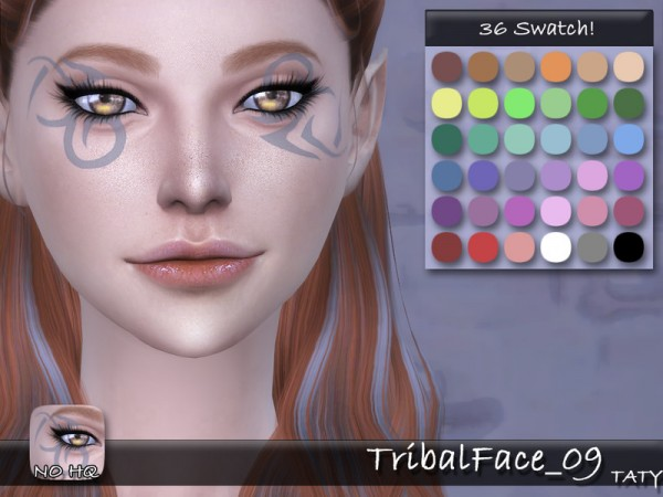 The Sims Resource: Tribal Face 09 by Taty