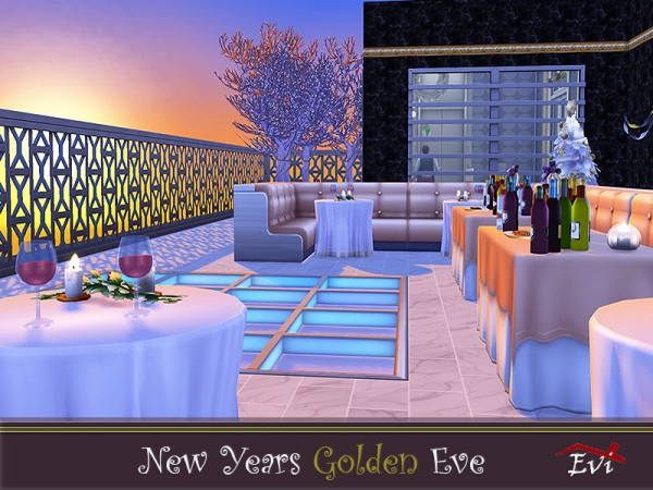 The Sims Resource: New Year Golden Eve by evi • Sims 4 ...