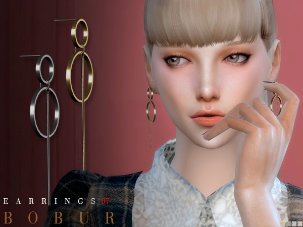 The Sims Resource: Earrings 07 by Bobur3