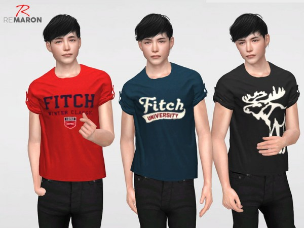 The Sims Resource: AF Shirt for men by remaron
