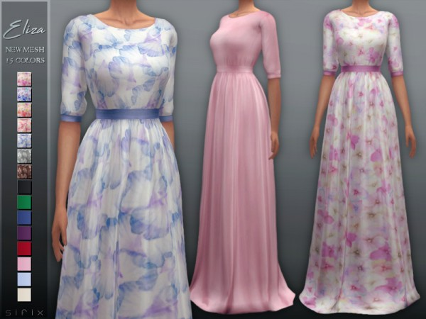 The Sims Resource: Eliza Dress by Sifix