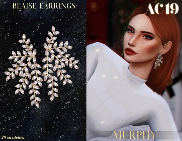 Murphy: Blaise Earrings by Silence Bradford