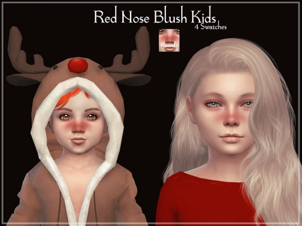 The Sims Resource: Red Nose Blush Kids by Reevaly
