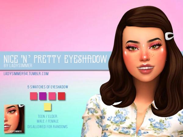 The Sims Resource: Nice N Pretty Eyeshadow by LadySimmer94