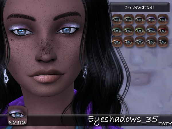 The Sims Resource: Eyeshadows 35 by Taty
