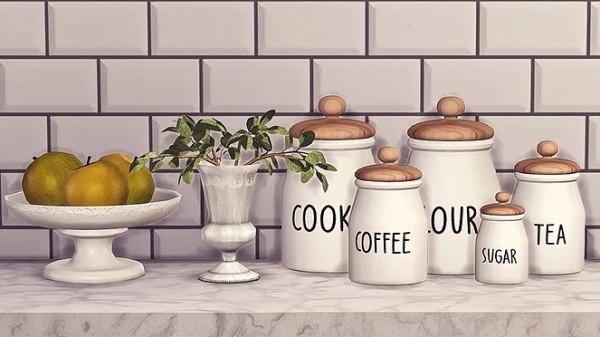 Blooming Rosy: Kitchen Jars Collection