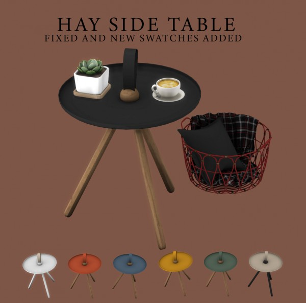 Leo 4 Sims: Hay Side Table