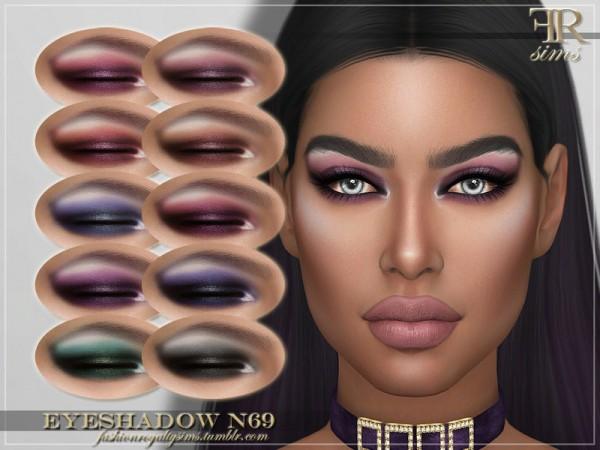 The Sims Resource: Eyeshadow N69 byFashionRoyaltySims