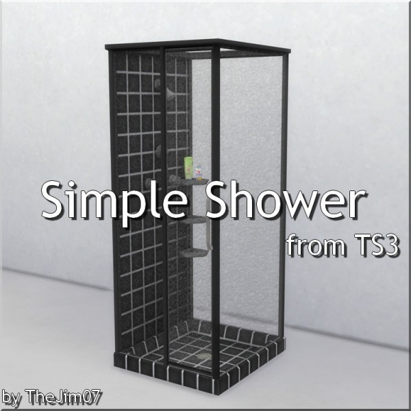 Mod The Sims: Simple Shower by TheJim07