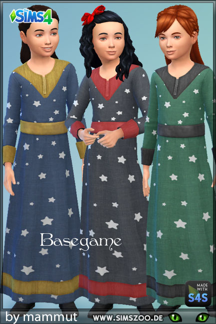 Blackys Sims 4 Zoo: Wizard dress 1 by mammut