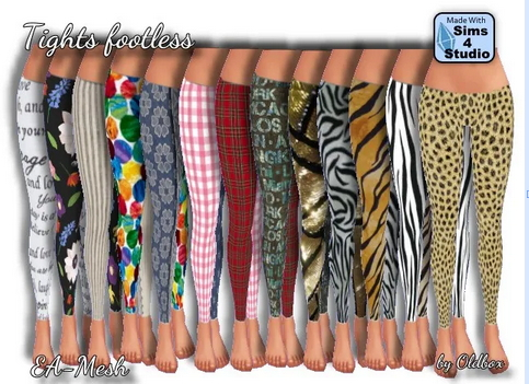 All4Sims: Tights footless by Oldbox