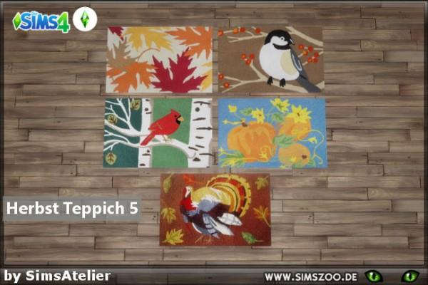 Blackys Sims 4 Zoo: Autumn carpet 5 by  SimsAtelier