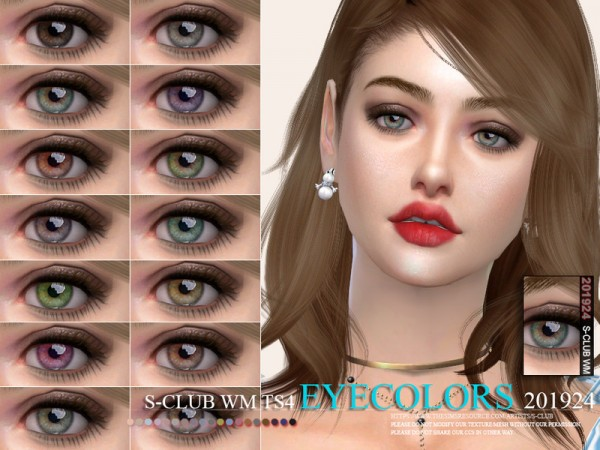 The Sims Resource: Eyecolors 201924 by S Club